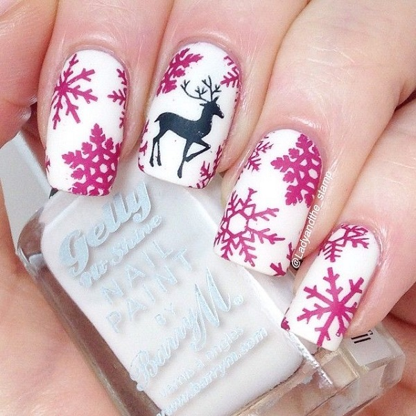Christmas nail art 9