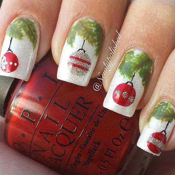 Christmas ornaments nails