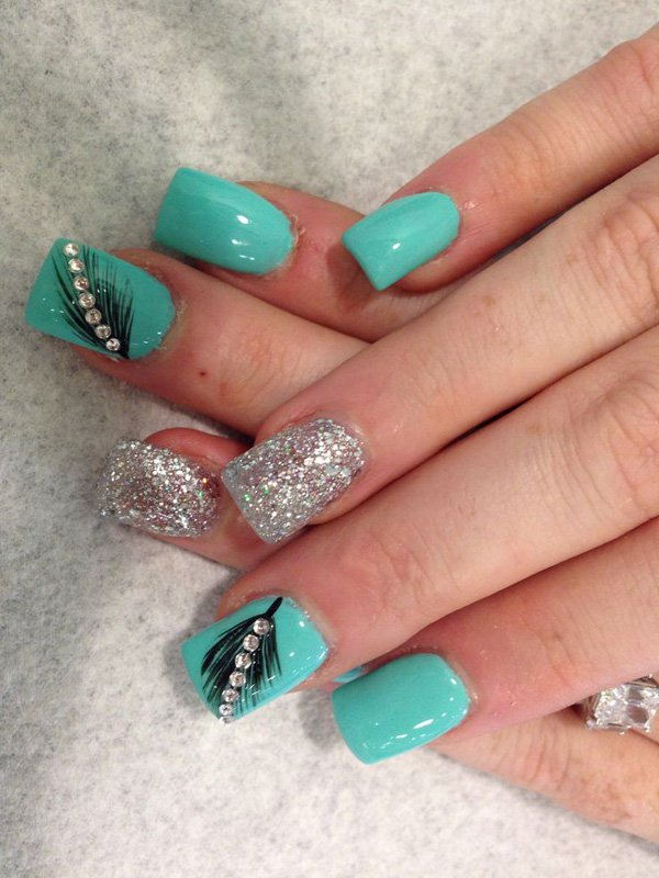 Feather Nail Art 1