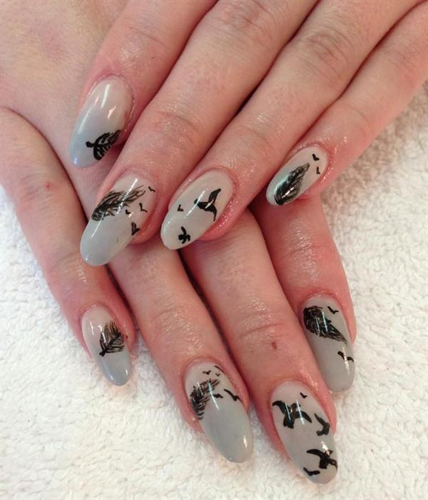 Feather Nail Art 10