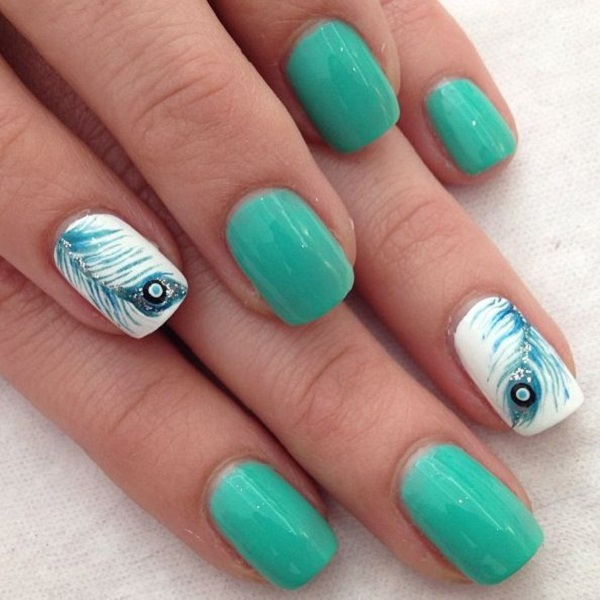 Feather Nail Art 11