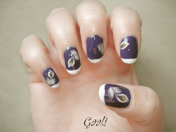 Feather Nail Art 12
