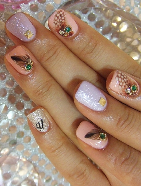 Feather Nail Art 13