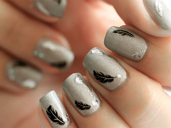 Feather Nail Art 14
