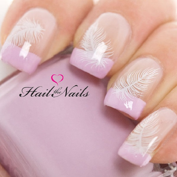Feather Nail Art 16