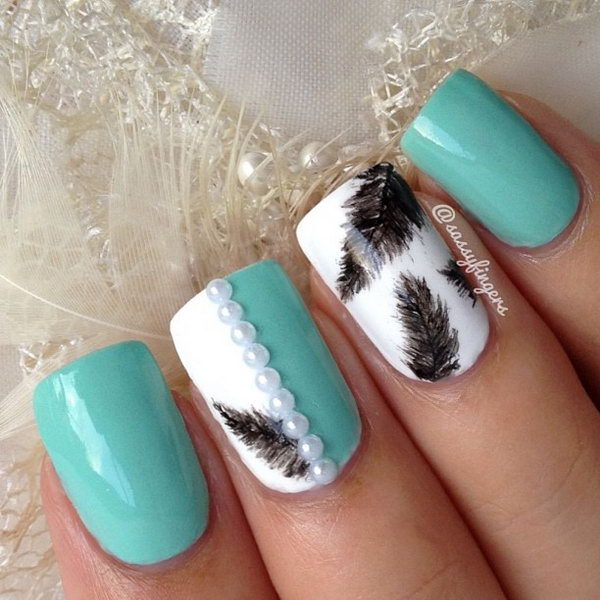 Feather Nail Art 18