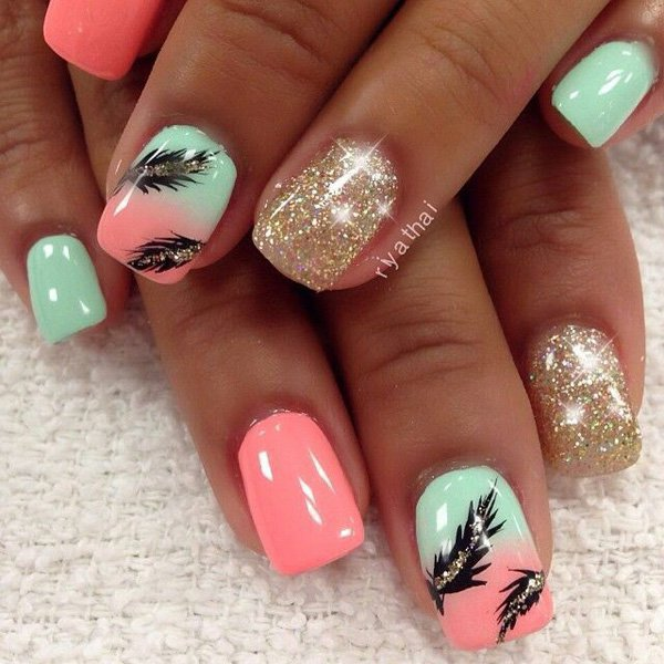 Feather Nail Art 19