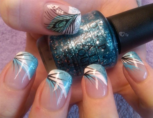 Feather Nail Art 21