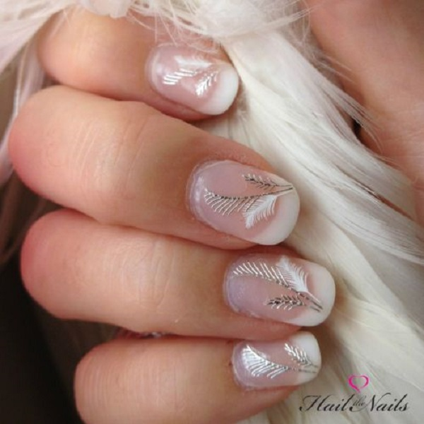 Feather Nail Art 23