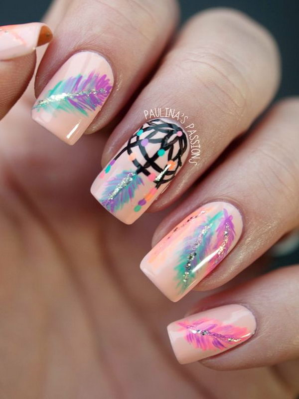 Feather Nail Art 25