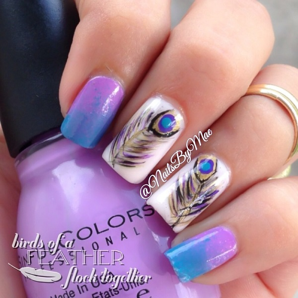 Feather Nail Art 29