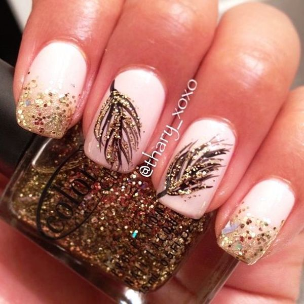 Feather Nail Art 3