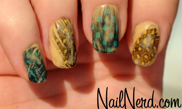 Feather Nail Art 32