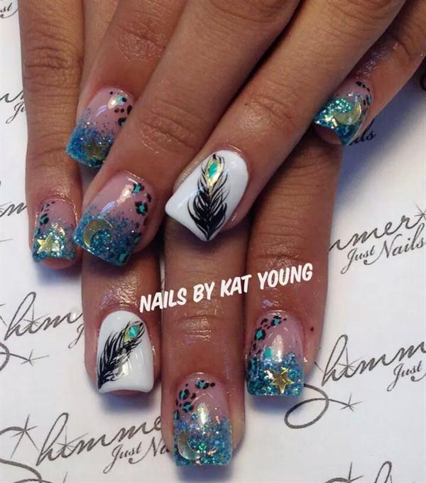Feather Nail Art 34