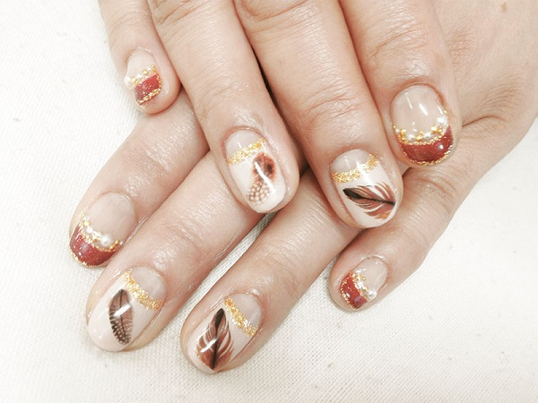 Feather Nail Art 35