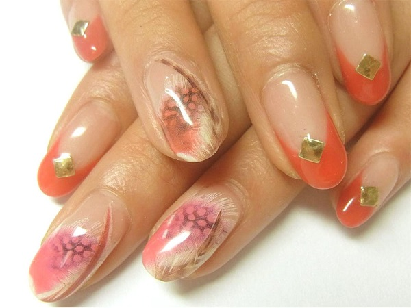 Feather Nail Art 37