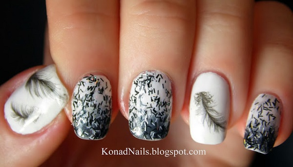 Feather Nail Art 38