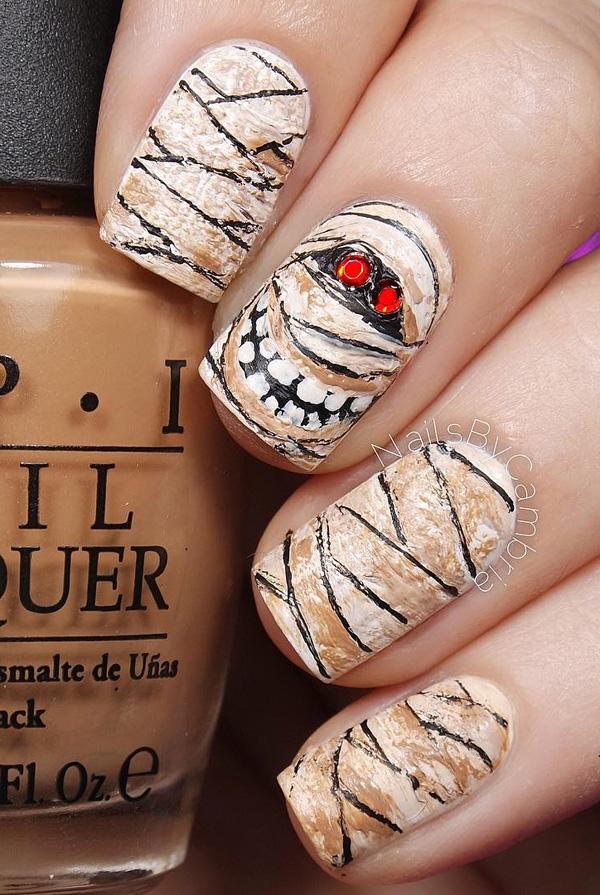 halloween nail art44 65 halloween nail art ideas u003c3