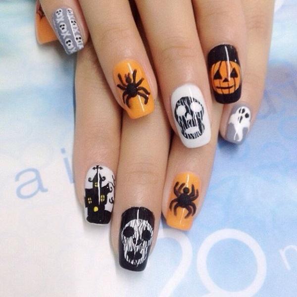 65 Halloween Nail Art Ideas , nenuno creative