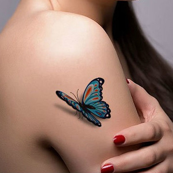 3D butterfly tattoo 1