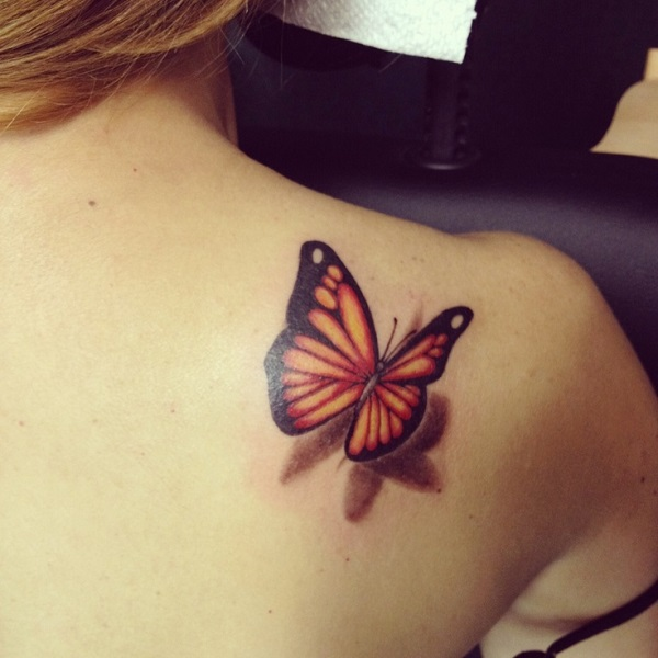 3D butterfly tattoo 10