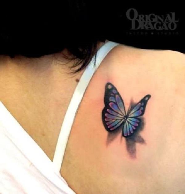 3D butterfly tattoo 11