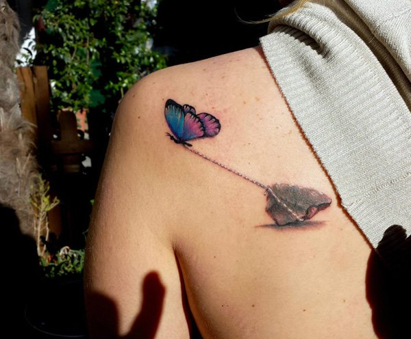 3D butterfly tattoo 13
