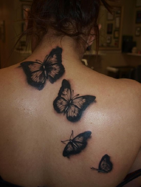 3D butterfly tattoo 17