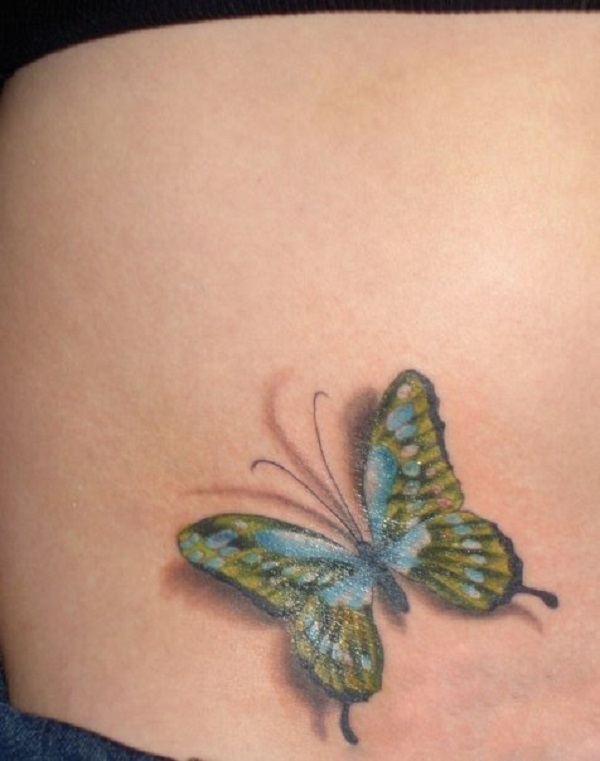 3D butterfly tattoo 19