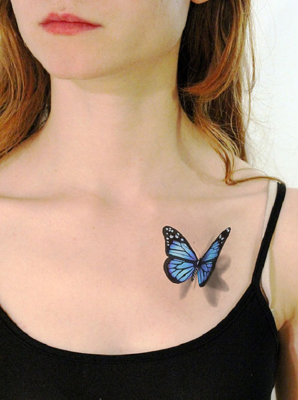 3D butterfly tattoo 2