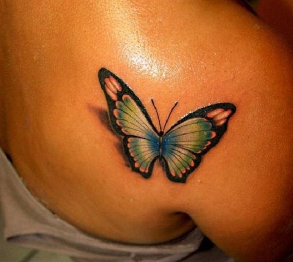 3D butterfly tattoo 20