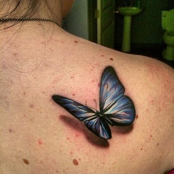 3D butterfly tattoo 21