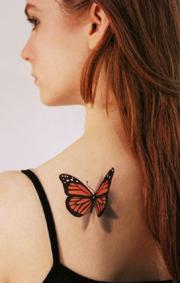 3D butterfly tattoo 22