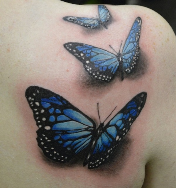 3D butterfly tattoo 24