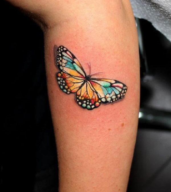 3D butterfly tattoo 25