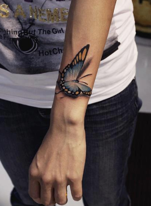 3D butterfly tattoo 3