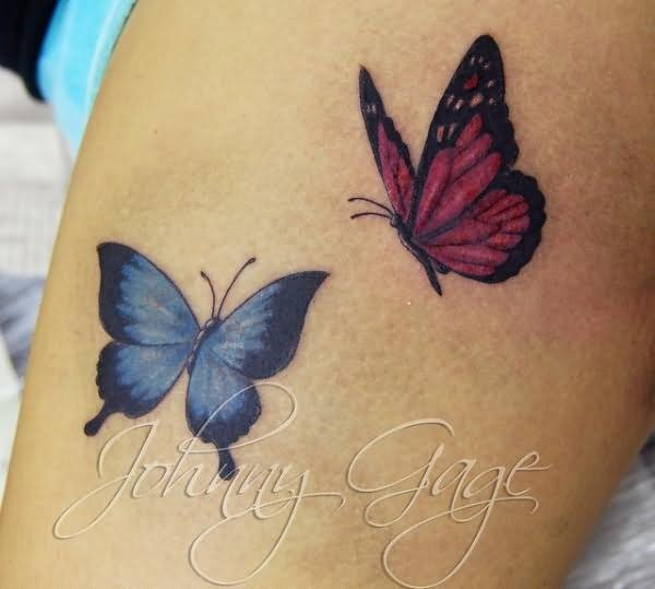 3D butterfly tattoo 31