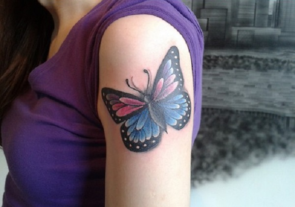 3D butterfly tattoo 34