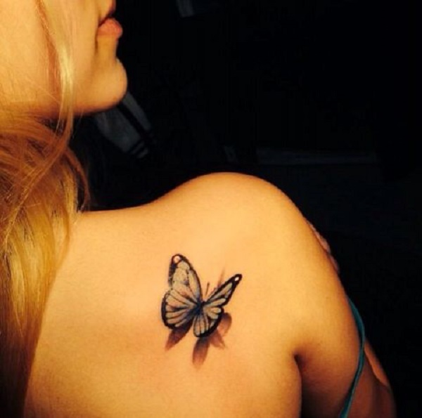 3D butterfly tattoo 36