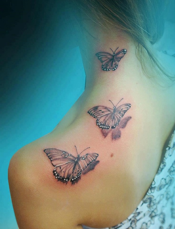 3D butterfly tattoo 38