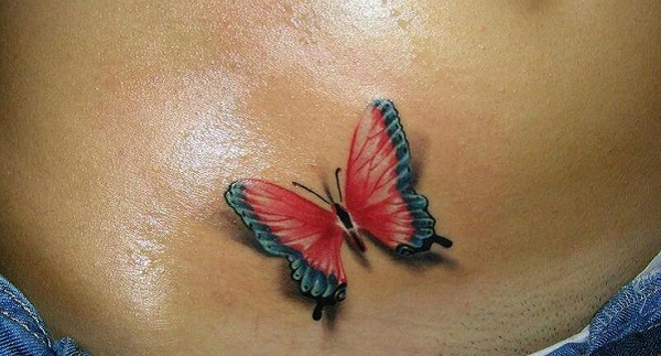 3D butterfly tattoo 39