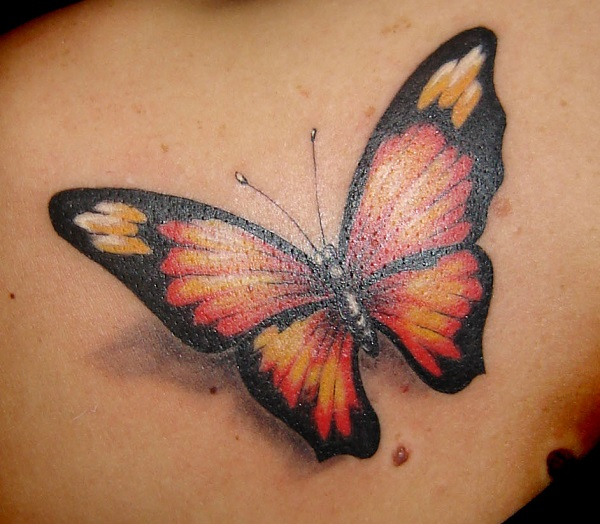 3D butterfly tattoo 44