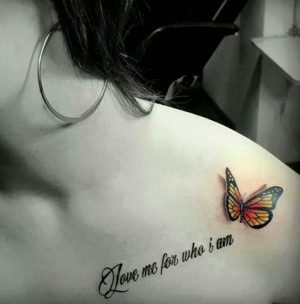 3D butterfly tattoo 45
