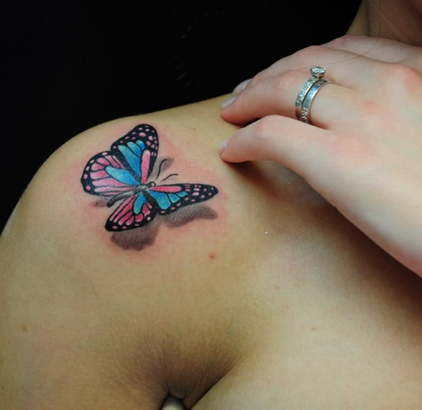 3D butterfly tattoo 48