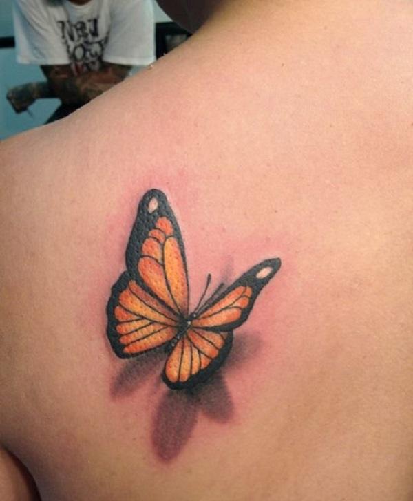 3D butterfly tattoo 5