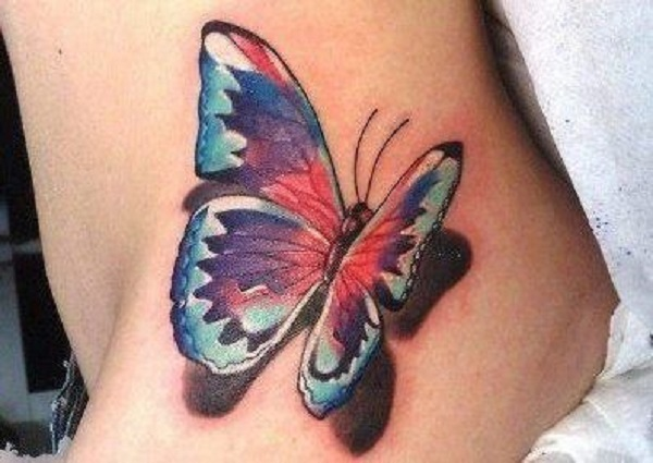 3D butterfly tattoo 55