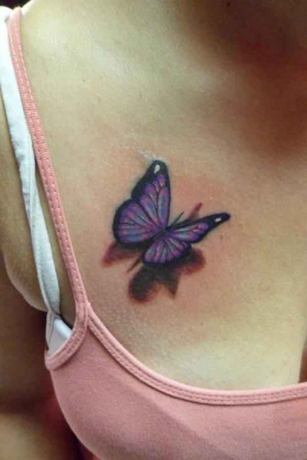 3D butterfly tattoo 6