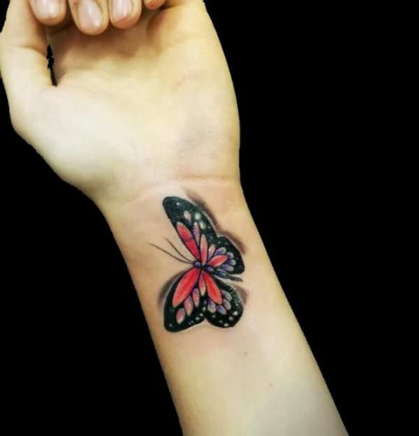 3D butterfly tattoo 60