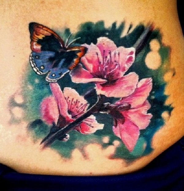 3D butterfly tattoo 65