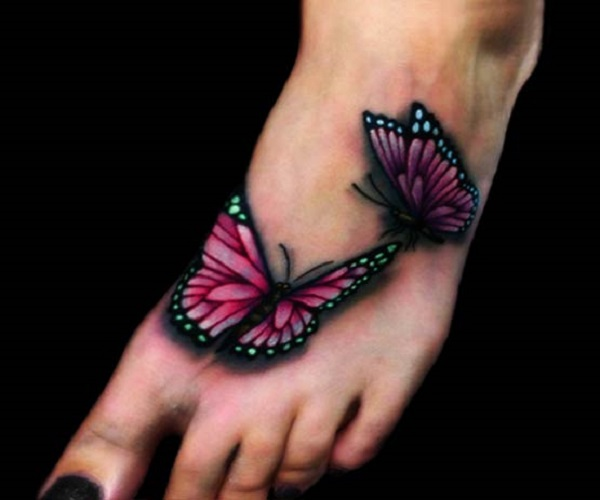 3D butterfly tattoo 8